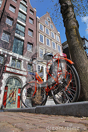 Free Amsterdam City With Bike In Holland Royalty Free Stock Images - 31359929