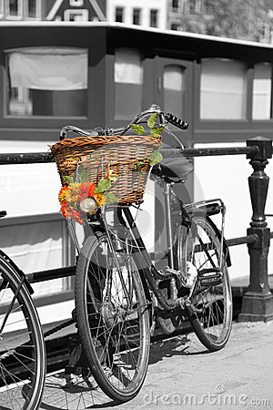 Free Amsterdam City With Bike In Holland Royalty Free Stock Image - 31776526