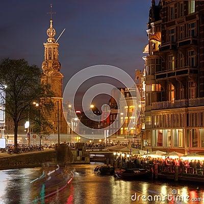 Free Amsterdam Corner At Night, The Netherlands Stock Image - 11408581
