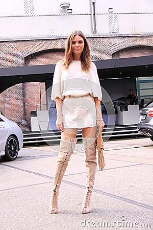 Free Amsterdam Fashion Week Street Style Kim Feenstra Stock Photos - 43530783