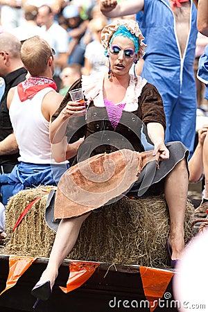 Amsterdam. Gay Pride 2009 Editorial Stock Image