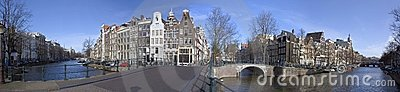 Amsterdam keizersgracht-Leidsegracht in Holland