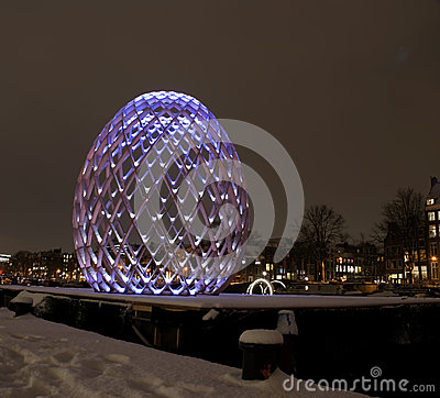 Amsterdam Light Festival Editorial Image