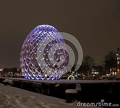 Amsterdam Light Festival Editorial Image