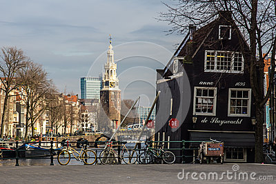 Amsterdam - the Montelbaanstoren Editorial Photo