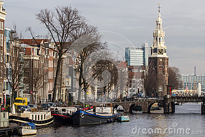 The Amsterdam Montelbaanstoren Editorial Stock Image