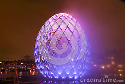 AMSTERDAM,THE NETHERLANDS-DECEMBER 19:  Festival of Light  in 20 Editorial Stock Photo