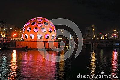 AMSTERDAM,THE NETHERLANDS-DECEMBER 26: Festival of Light, decemb Editorial Photography