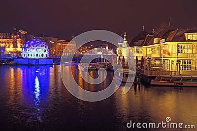AMSTERDAM,THE NETHERLANDS-DECEMBER 26: Festival of Light, decemb Editorial Stock Image