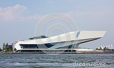 AMSTERDAM, NETHERLANDS - JULY 25 2013: EYE Film Institute Netherlands in Amsterdam. Editorial Photography