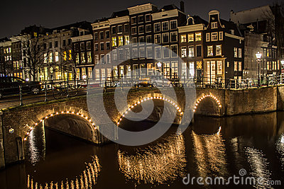 Amsterdam at Night Editorial Photography