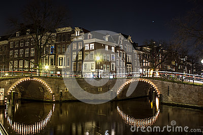 Amsterdam at Night Editorial Image