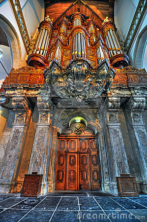 Free Amsterdam Oude Kerk Organ Royalty Free Stock Photo - 23845335