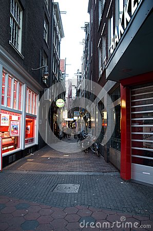 Amsterdam Red Light District Editorial Photography