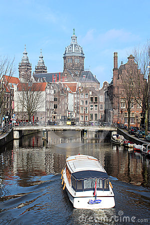 Amsterdam Tour Boats Stock Photos - Image: 24596693