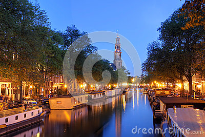 Amsterdam twilight Stock Photo