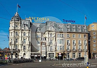 Amsterdam Victoria Hotel Redactionele Stock Afbeelding