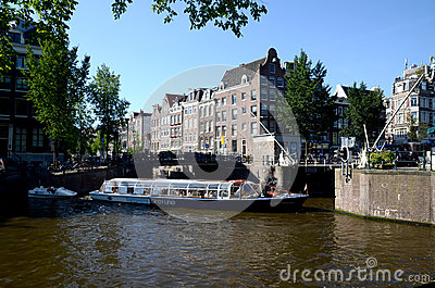 Amsterdam waterside Editorial Photography
