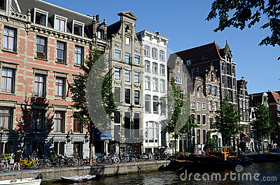 Amsterdam waterside Editorial Stock Image