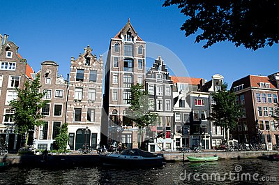 Amsterdam waterside Editorial Stock Photo
