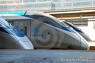 Amtrak high speed train Acela Editorial Image