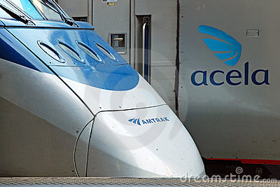 Amtrak high speed train Acela Editorial Stock Photo