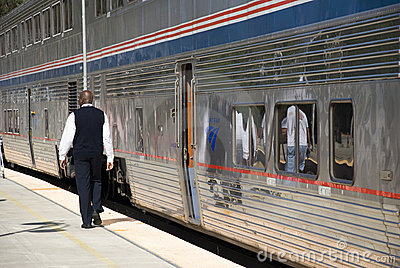 Amtrak Train Editorial Stock Image