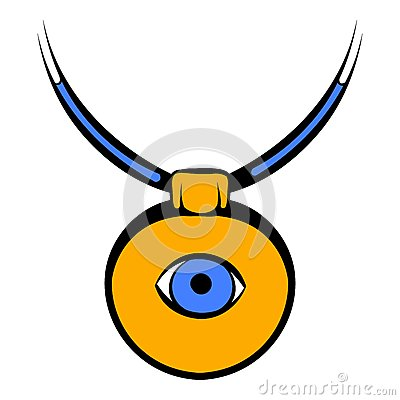 Amulet against the evil eye icon, icon cartoon Vector Illustration
