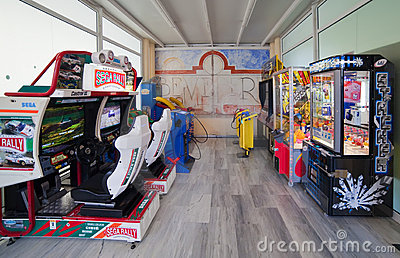 Amusement machines Editorial Stock Photo