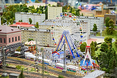 Amusement park and attractions. Ferris Wheel