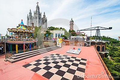 Amusement Park Editorial Stock Photo
