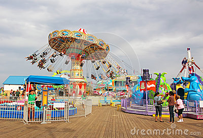 Amusement Park Editorial Photography