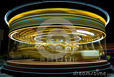 Amusement Park. Carrousel. Royalty Free Stock Image - Image: 27157976