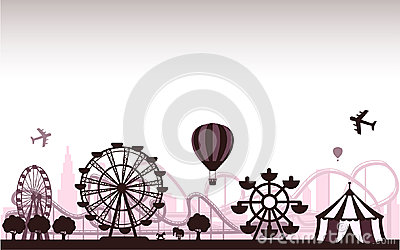 The Amusement Park Vector Illustration