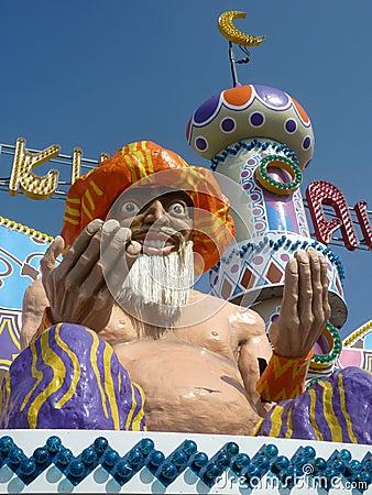 Amusement Park Magician Editorial Stock Photo