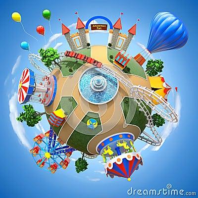 Free Amusement Park Planet Stock Images - 37109894