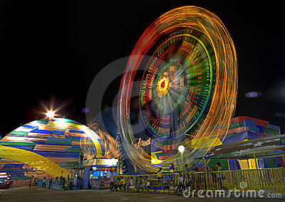 Amusement Park Ride Editorial Stock Image