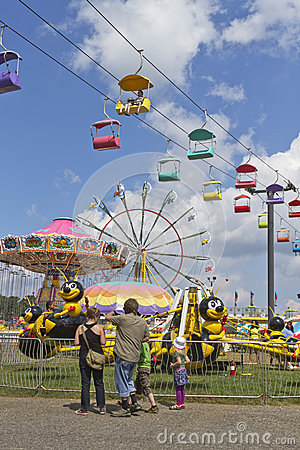 Amusement Park Rides and Family Fun at the North Carolina State Editorial Image