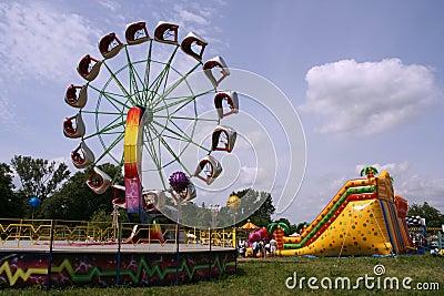 Amusement park - summer fun