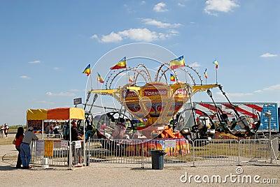 Amusement park in Texas Editorial Photo