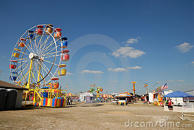Amusement park in Texas Editorial Photo