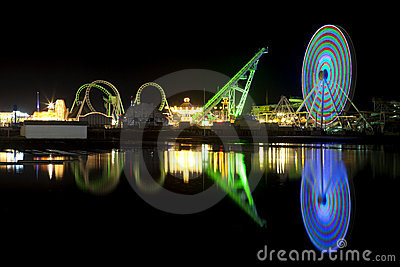Amusement Pier reflection