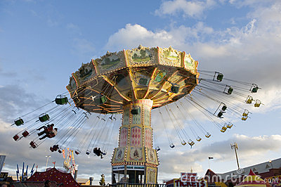 Amusement Ride at dusk Editorial Photo