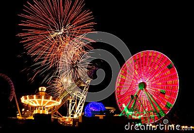 Amusement Ride & Fireworks