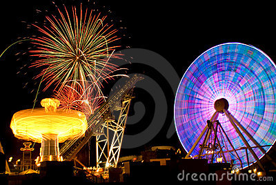 Amusement Ride & Fireworks