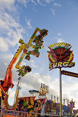 Amusement Rides Editorial Photography