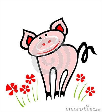 Amusing pig