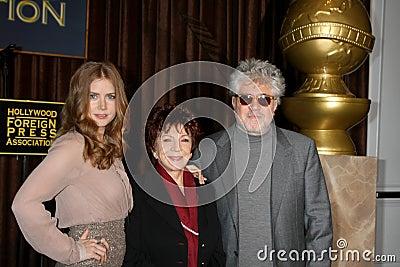 Amy Adams, Cecil B. DeMille, Pedro Almodovar Editorial Image
