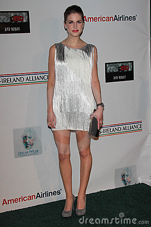 Amy Huberman at US Ireland Alliance Oscar Wilde Honors, Bad Robot, Santa Monica, CA 02-23-12 Editorial Photo