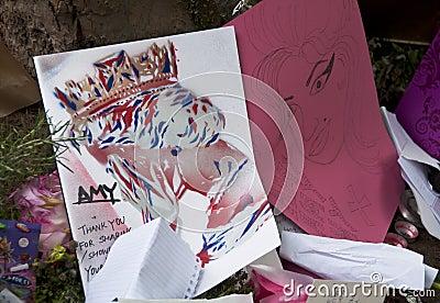 Amy till tributewinehouse Redaktionell Fotografering för Bildbyråer